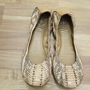 Tory Burch Leather Ballerina Flats